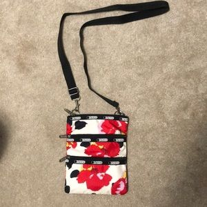 Hibiscus print LeSportsac crossbody bag
